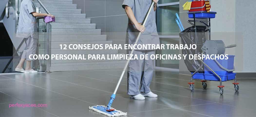 trabajo en limpieza