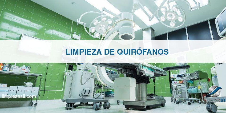 cómo desinfectar un quirófano