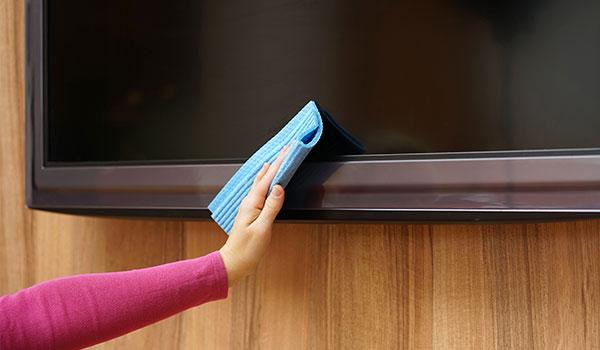cómo limpiar una televisión