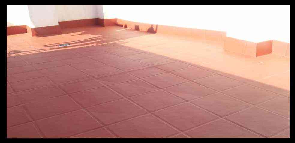 limpiar suelo terraza rojo