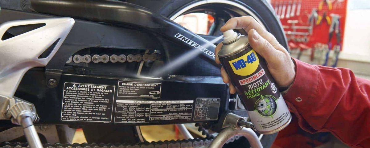 Limpiar cadena moto