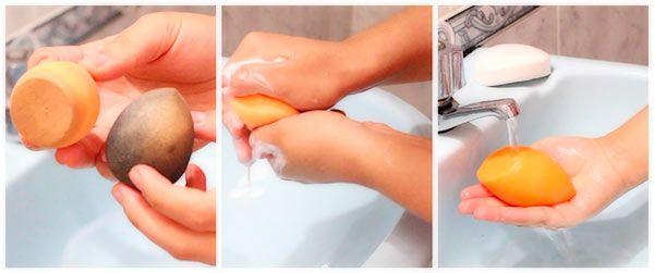 Cómo limpiar la esponja de maquillaje